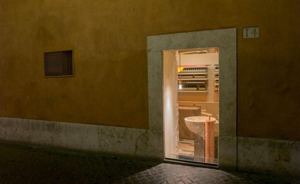 Przestrzeń handlowa/ekspozycyjna – Aesop x Luc Guadagnino.